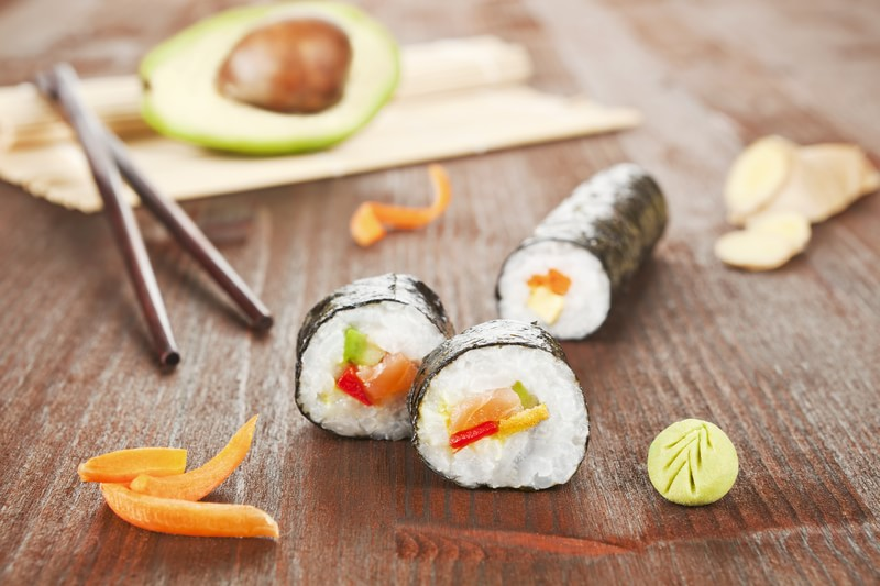 sushi rolls recipes, how to make sushi, caribbean cuisine, caribbean sushi