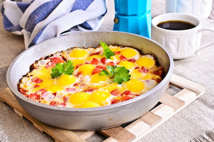 Portugal Style Baked Eggs, Baked Eggs recipe, how to make baked eggs, caribbean eggs, caribbean cuisine, caribbean food recipes